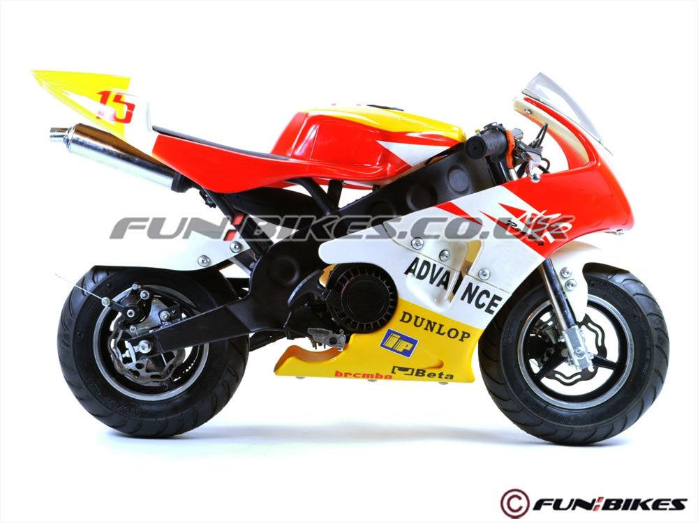 Funbikes mt4a 50cc mini moto racing bike race childrens for Motor racing for kids