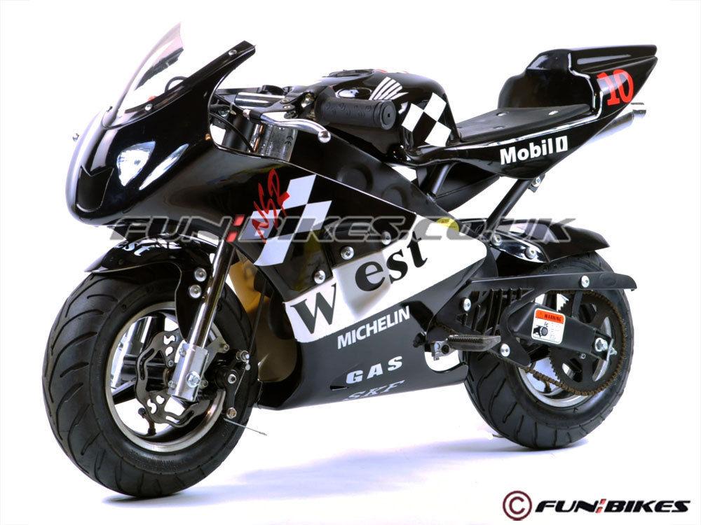 Funbikes Mt4a 50cc Minimoto Racing Bike Race Childrens Kids Petrol