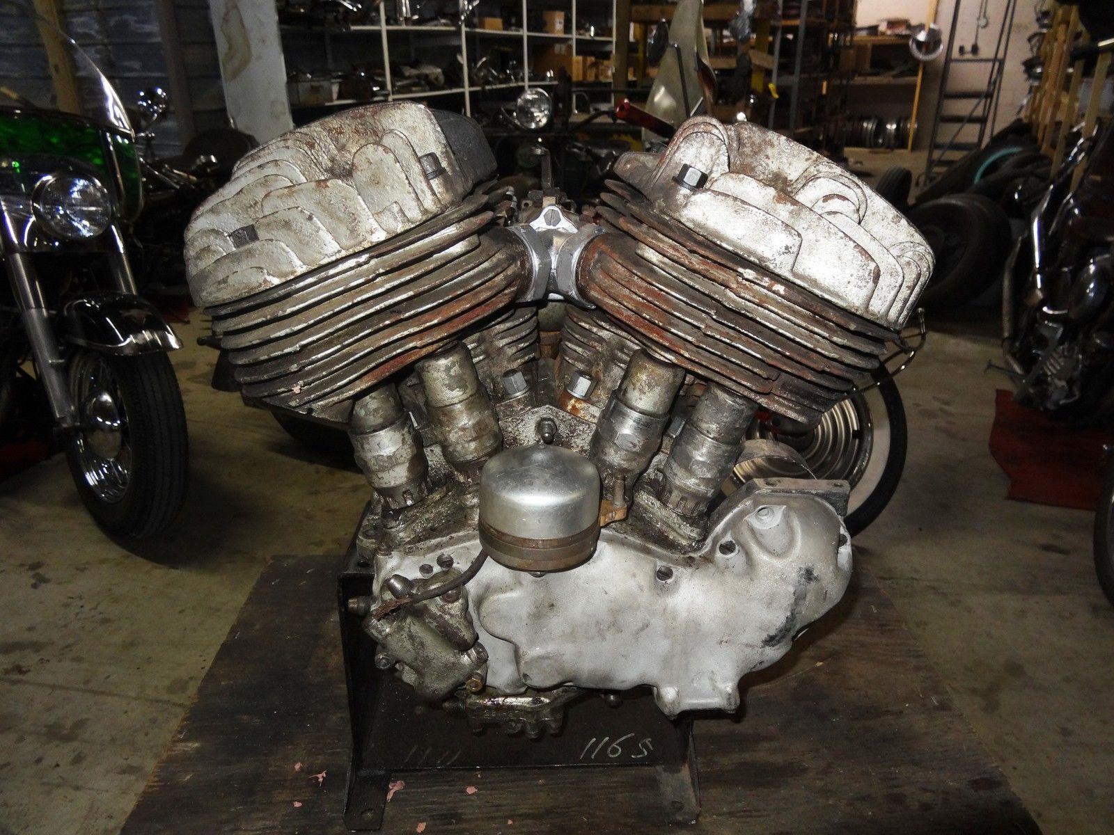 HARLEY DAVIDSON 1937 UL FLATHEAD ENGINE W/ TITLE ...
