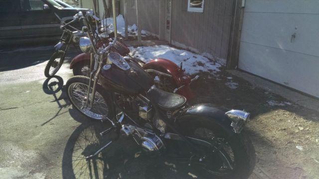 Harley Davidson 1956 Panhead old school bobber kick only classic