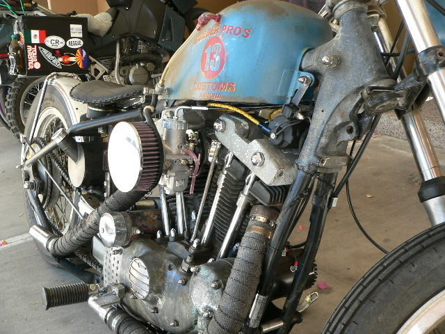 Harley Davidson Custom Sportster Xlh Bobber Rat Rod Rat Bike Cc Ironhead on Sportster Ignition