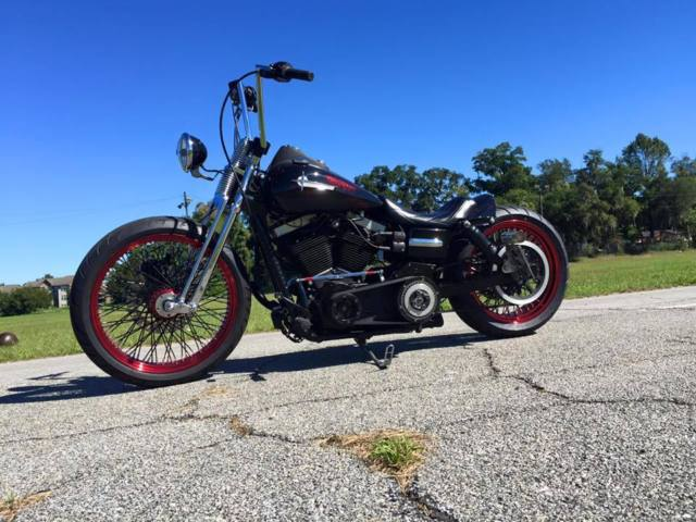 harley davidson dyna street bob fxdb custom bobber no reserve must see. Black Bedroom Furniture Sets. Home Design Ideas