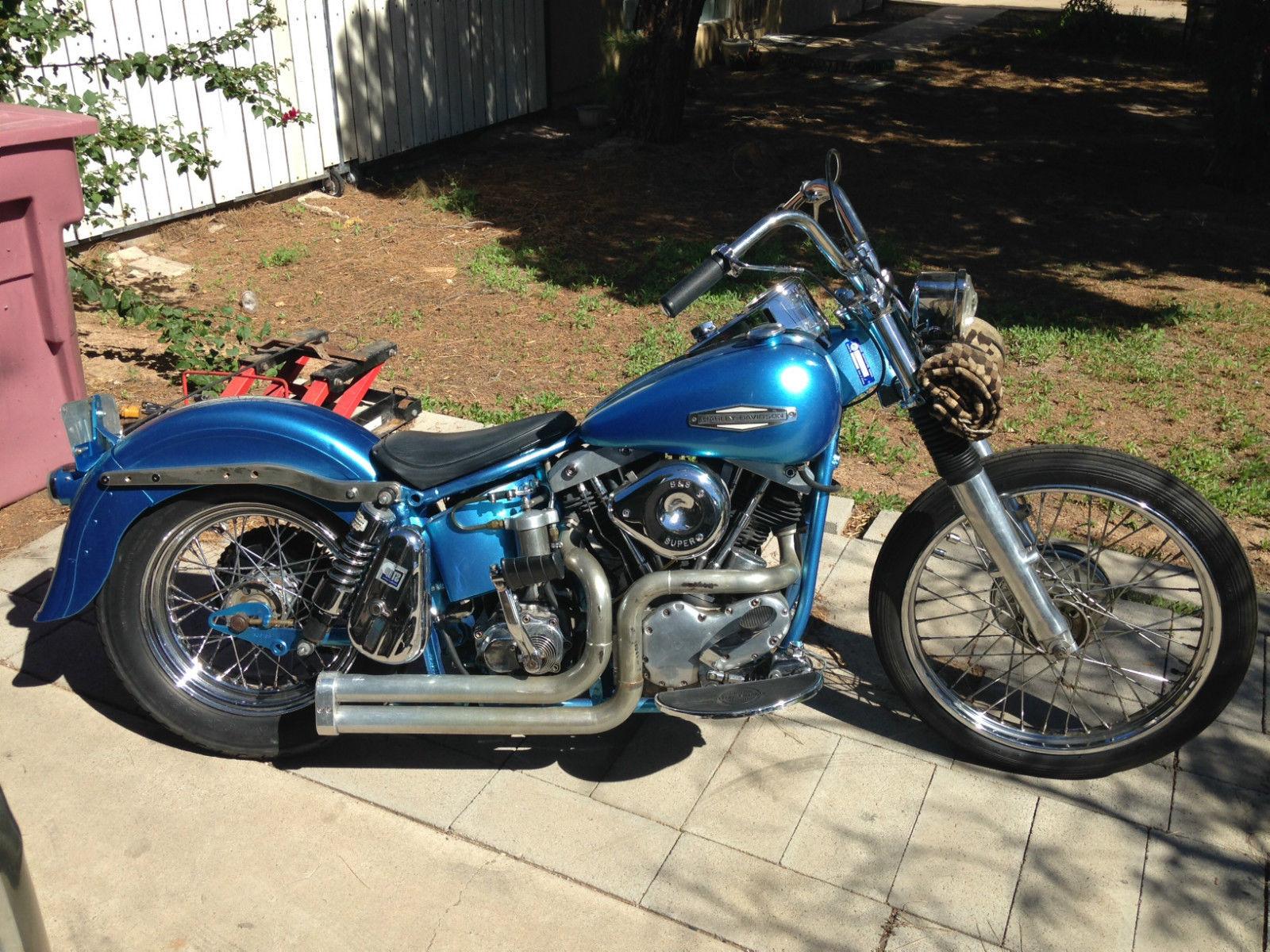 Harley Davidson Shovelhead Slabside 1966 Bobber Pan Shovel FL FLH
