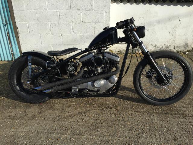 Harley Davidson Sportster Bobber Custom Built Hardtail Rigid By Jones Customs