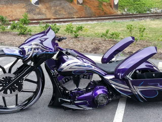 Superb Harley Davidson Streetglide, Lay Frame, 30 Inch Wheel,Custom Bagger