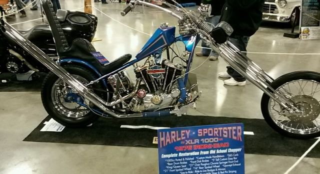 Harley Sportster Chopper Ironhead Speed Over Frontend Prism Tank Apes on Sportster Trans