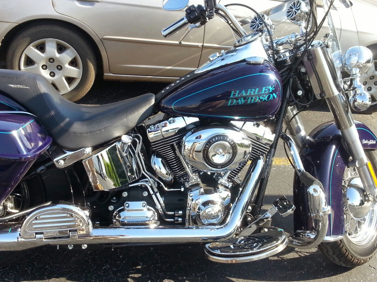 Heritage Softail Converted To Full Size Hd Hard Bags
