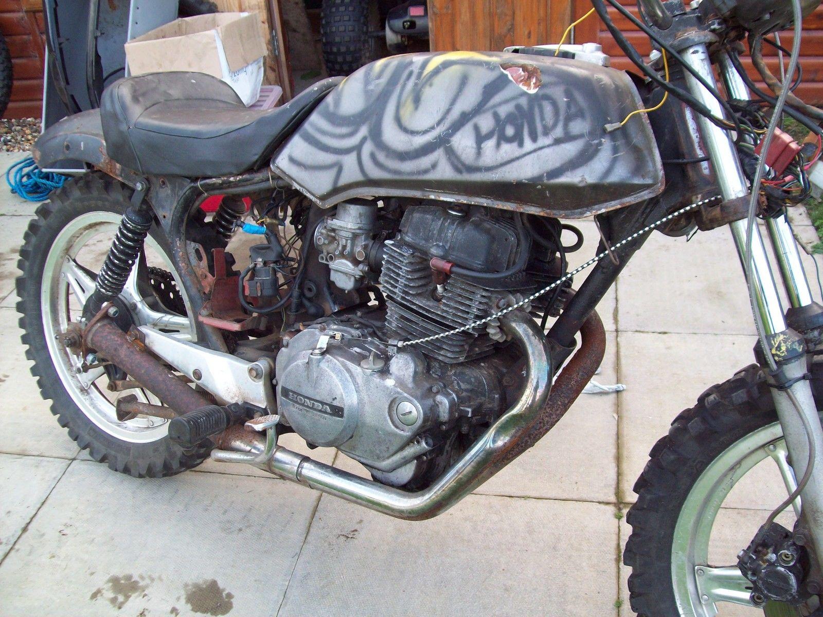 Honda 250 Superdream T Reg Ratbike Street Scrambler Field Bike Project  Flattrack