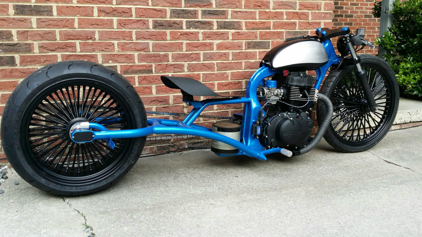 Honda Bar Hopper Bobber W Harley Wheels Chopper Street Bike
