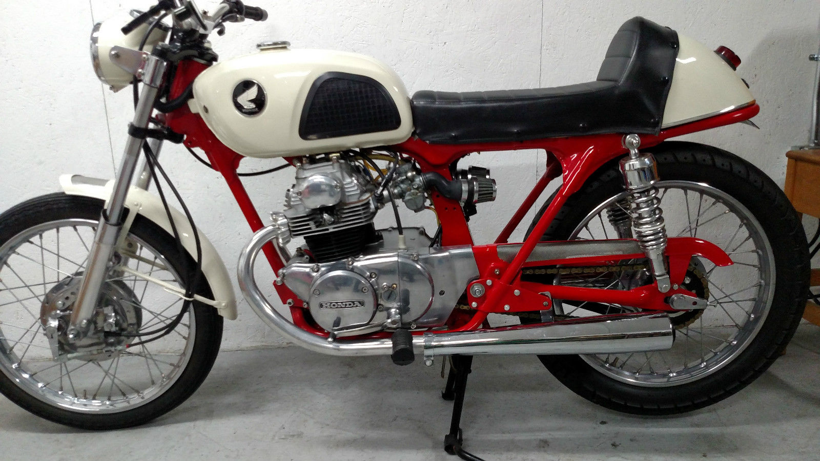 Honda CB175 Cafe Racer 370 Miles Since Restoration