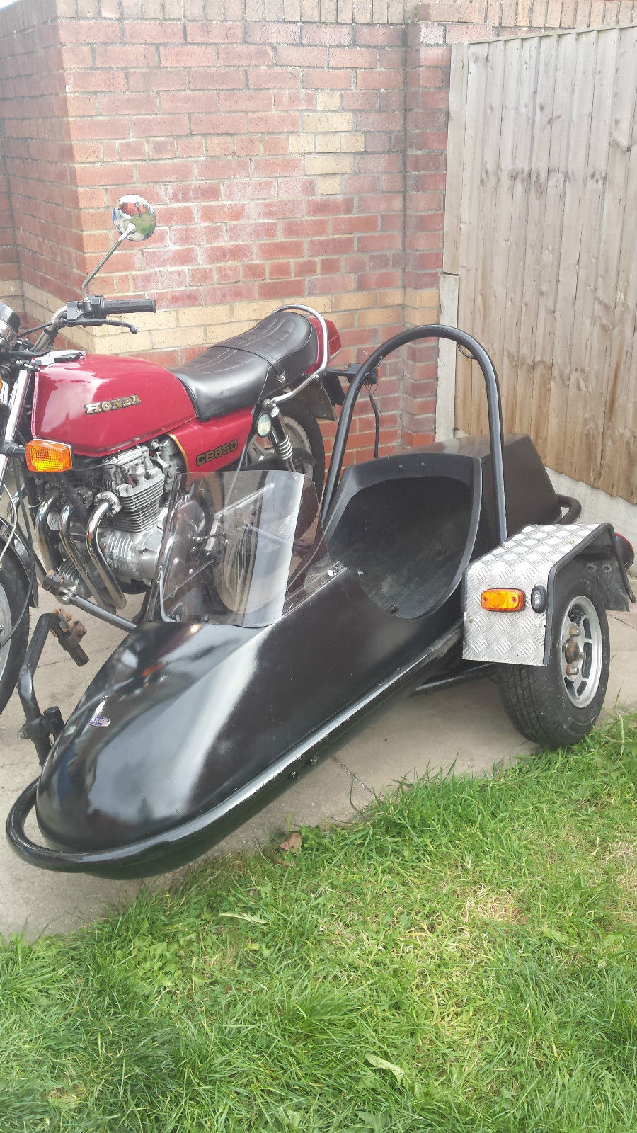 Honda Cb650z Motorcycle With Squire Sidecar Outfit