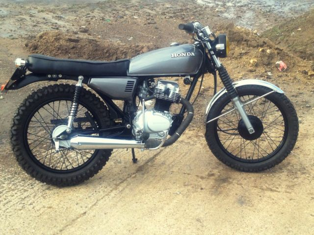 honda cg125 cg 125 street tracker cafe racer brat. Black Bedroom Furniture Sets. Home Design Ideas