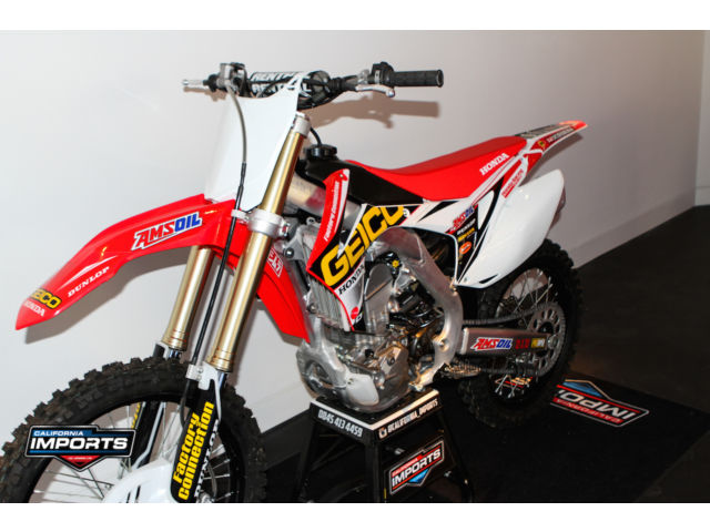 honda crf 250 r 2014 geico motocross bike. Black Bedroom Furniture Sets. Home Design Ideas