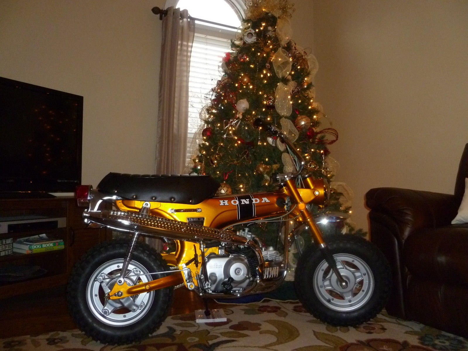 Honda Ct70 Ko Candy Gold 3 Speed Like New Restored And Ready To Ship 1970 Battery Ct