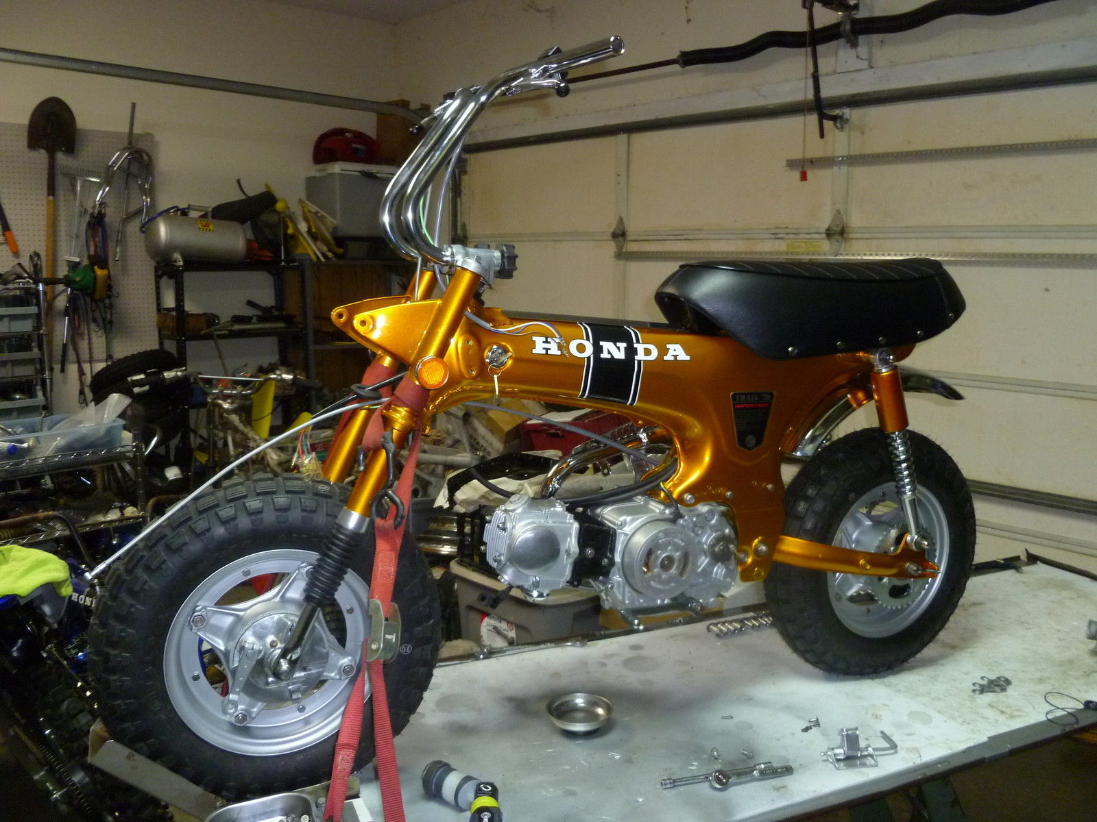 Honda Ct70 Ko Candy Gold 3 Speed Like New Restored And Ready To Ship 1970 Carburetor Ct