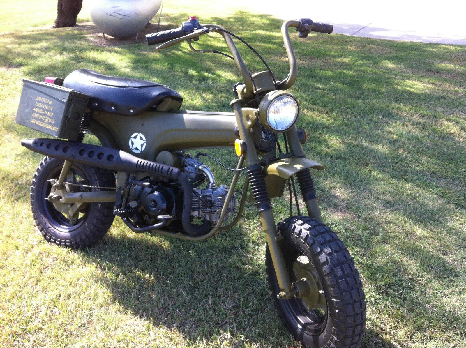 Honda Ct70 Trail Bike Restored W Military Theme 1970 Specs 1977 Ct