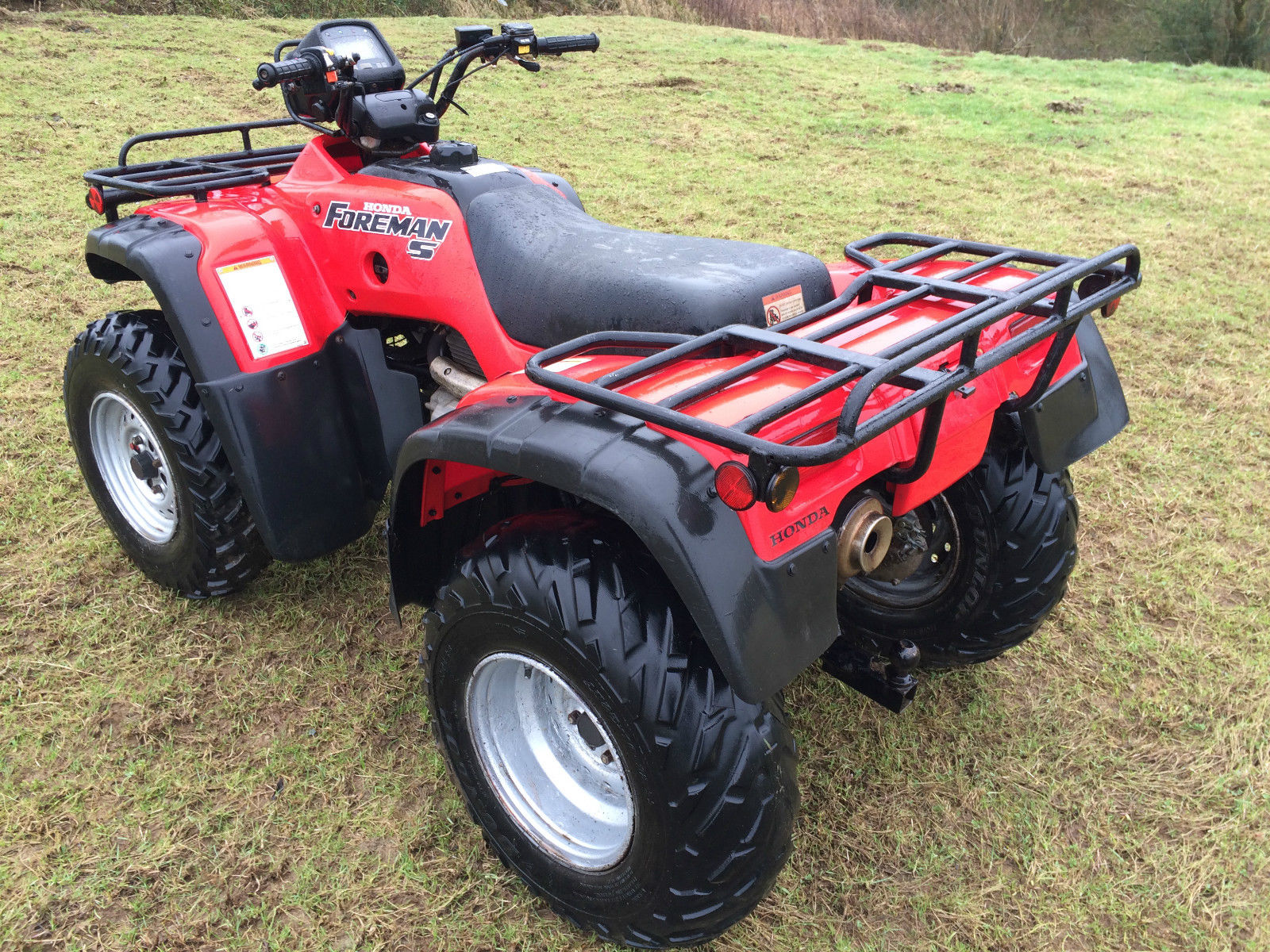 honda foreman trx450 atv farm quad bike 2 4wd 450cc 330hours no vat. Black Bedroom Furniture Sets. Home Design Ideas
