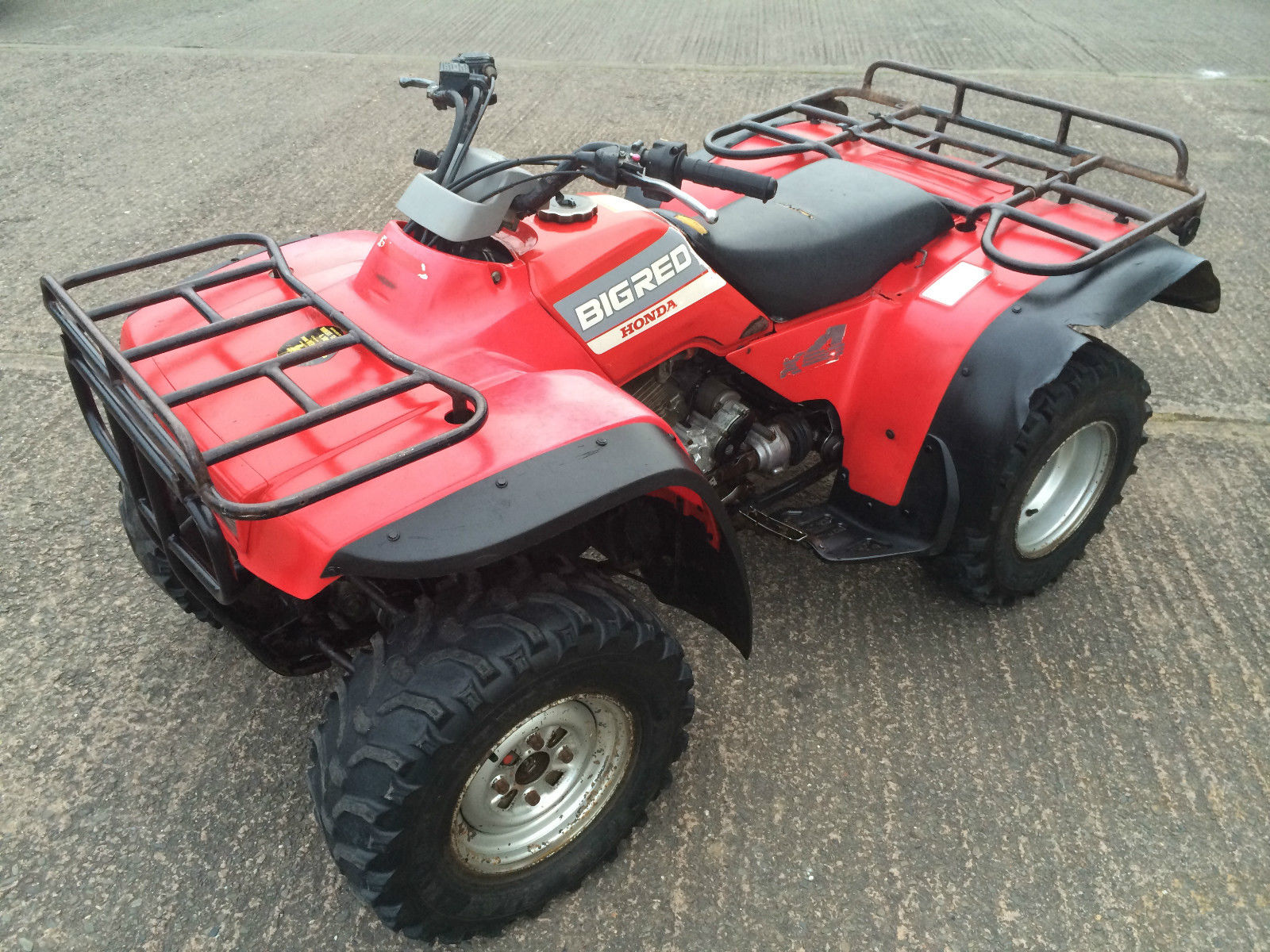 honda fourtrax trx big red  farm quad atv quad bike