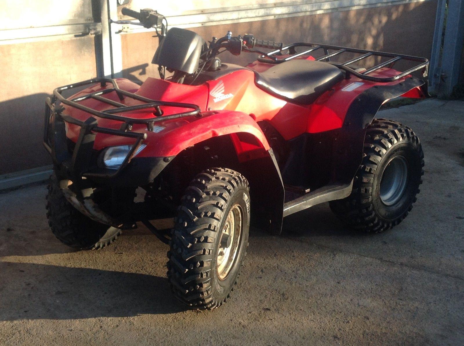 Honda Quad Trx 250 Fourtrax Atv Big Red