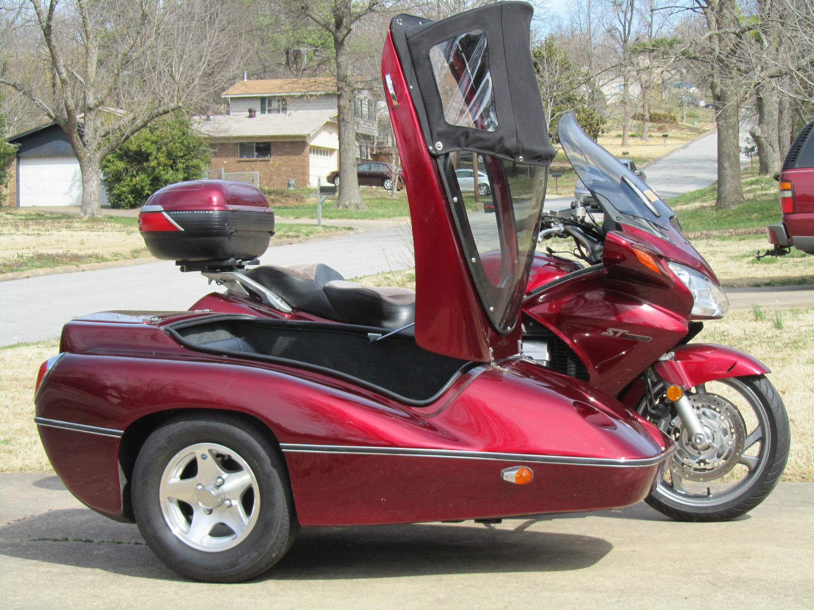 honda st1300 motorcycle with hannigan sidecar. Black Bedroom Furniture Sets. Home Design Ideas