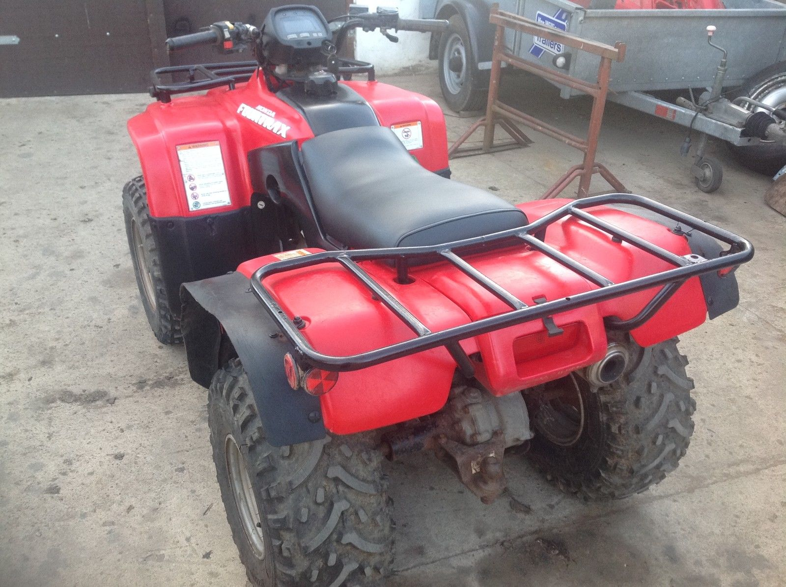 Honda Trx 250 Farm Quad Atv Big Red Fourtrax