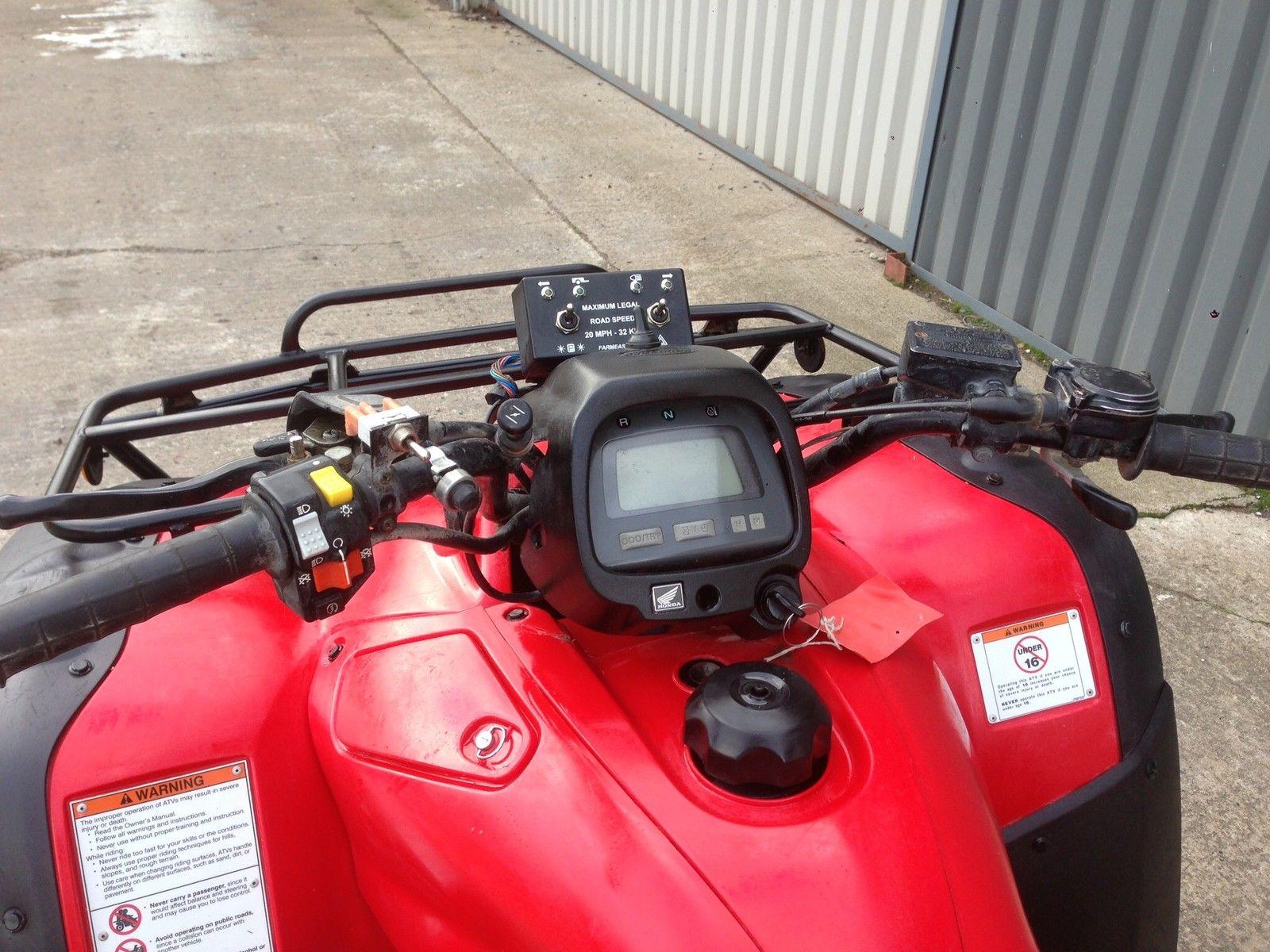Honda Trx 350 4x4 Fully Road Legal Quad Foreman Trx 500 420 Grizzly 450