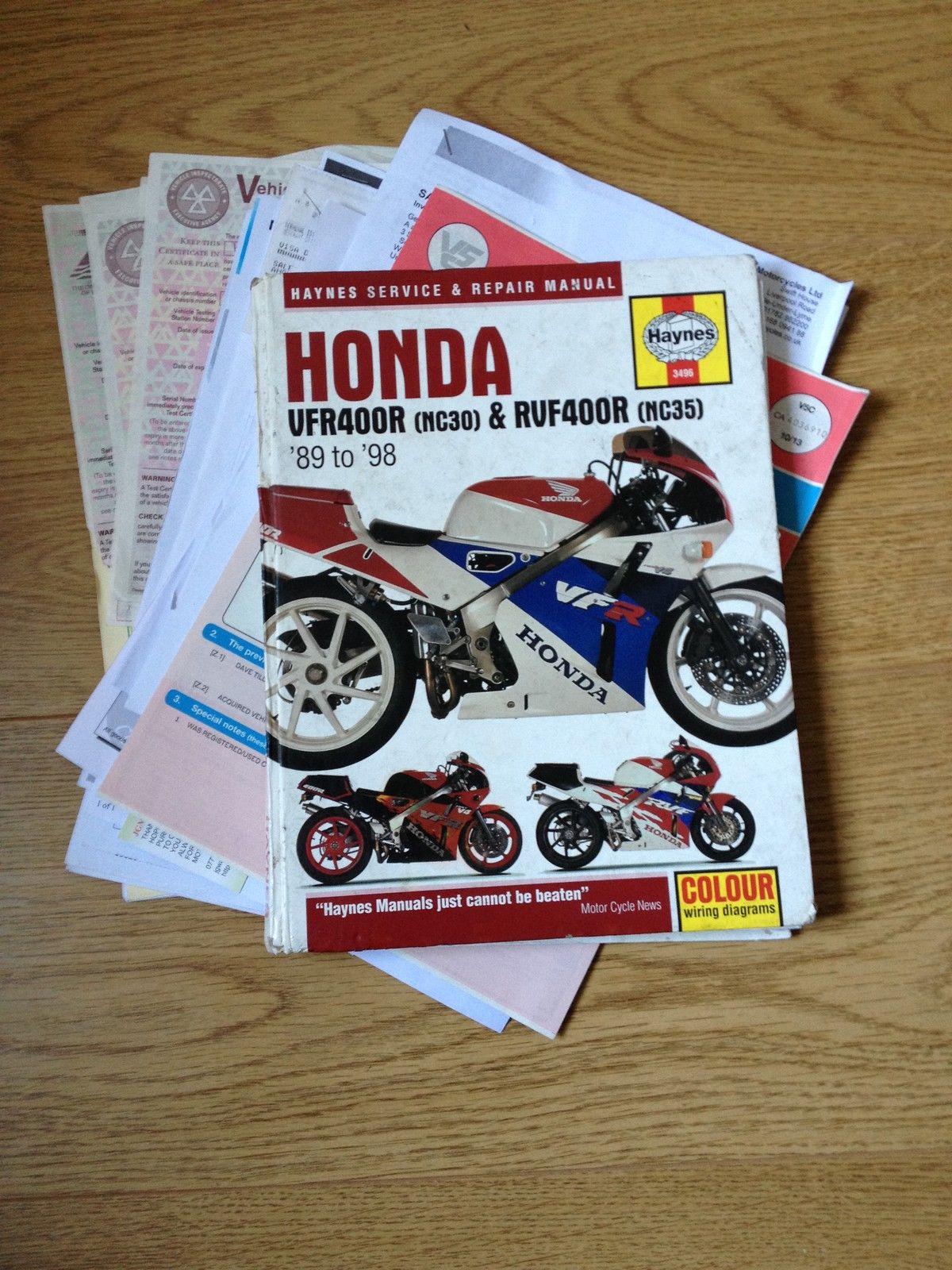 Honda Vfr 400 Nc30 Race Track Bike Very High Spec Wiring Diagram