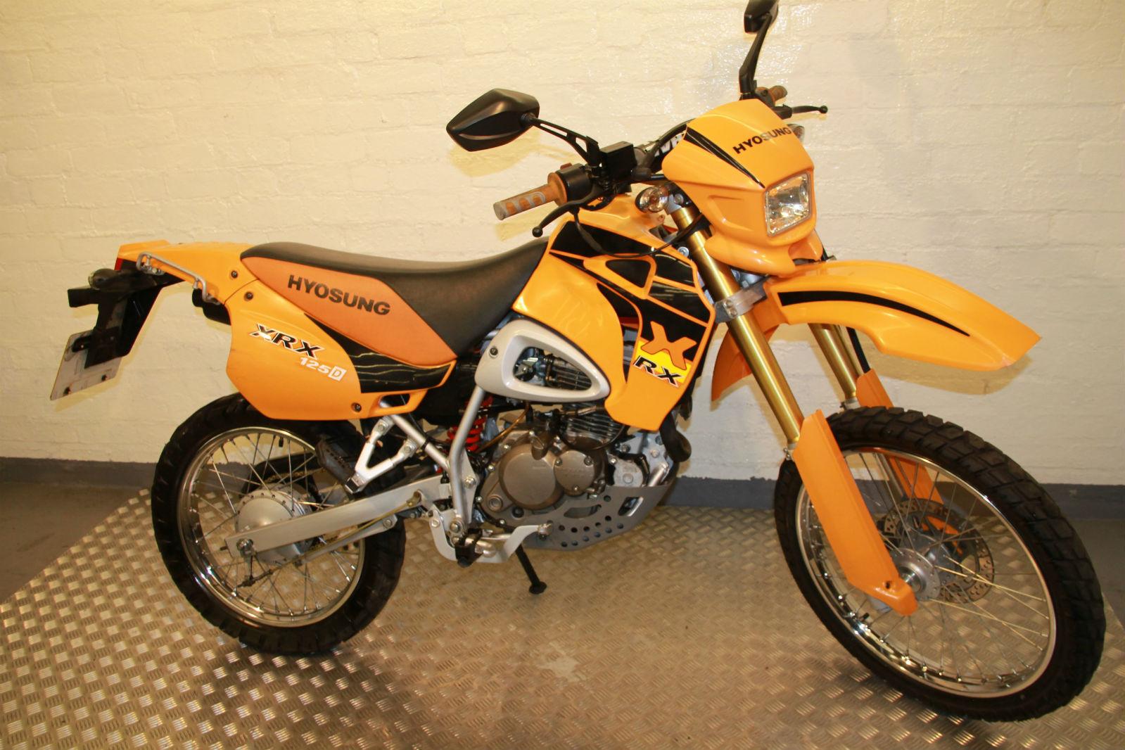 hyosung rx 125 trail bike smart ktm orange paintwork. Black Bedroom Furniture Sets. Home Design Ideas
