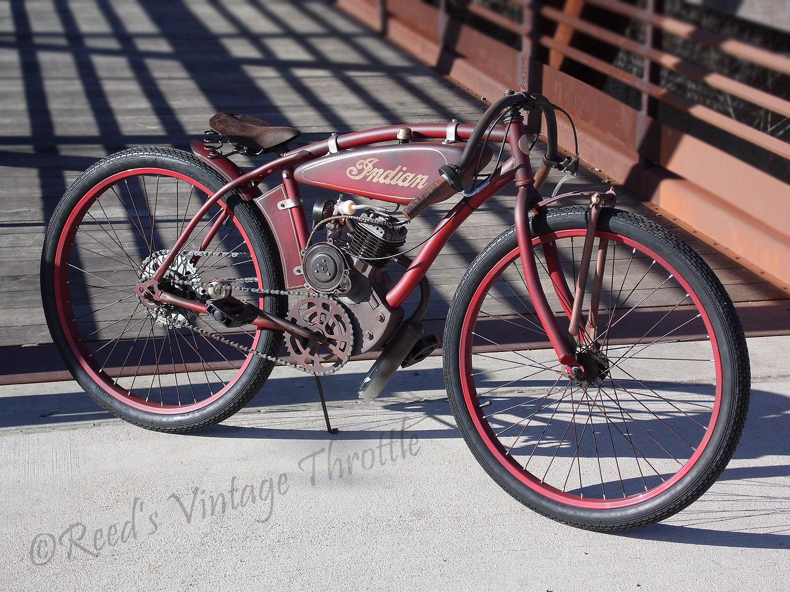 Indian board track racer antique vintage cafe pre war for Best bike for motorized bicycle
