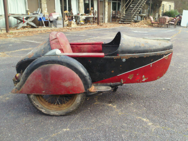 INDIAN MOTORCYCLE 1946 SIDECAR OLD PAINT COMPLETE WITH ALL