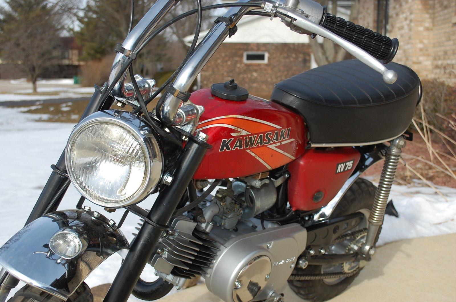 Kawasaki Kv 75 1976 A 5 Mini Trail 75cc 2stroke Vintage Bike 1970 Honda Motorcycle Other