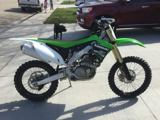 Kawasaki KX450F KX450 450 dirt bike motorcycle green machine