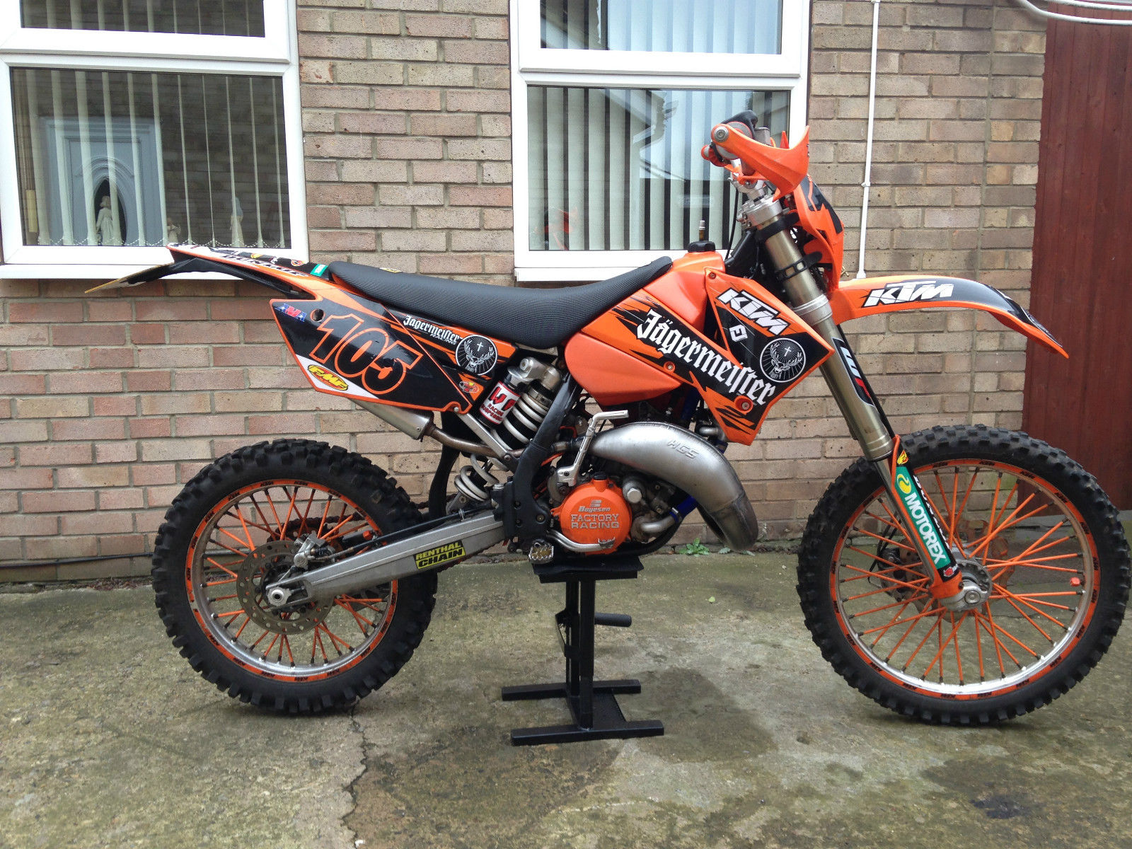 נפלאות KTM 125 EXC 2007 Road Legal Enduro Motocross condition OJ-14