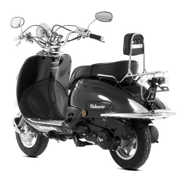 lexmoto valencia 50cc moped retro style twist go scooter. Black Bedroom Furniture Sets. Home Design Ideas