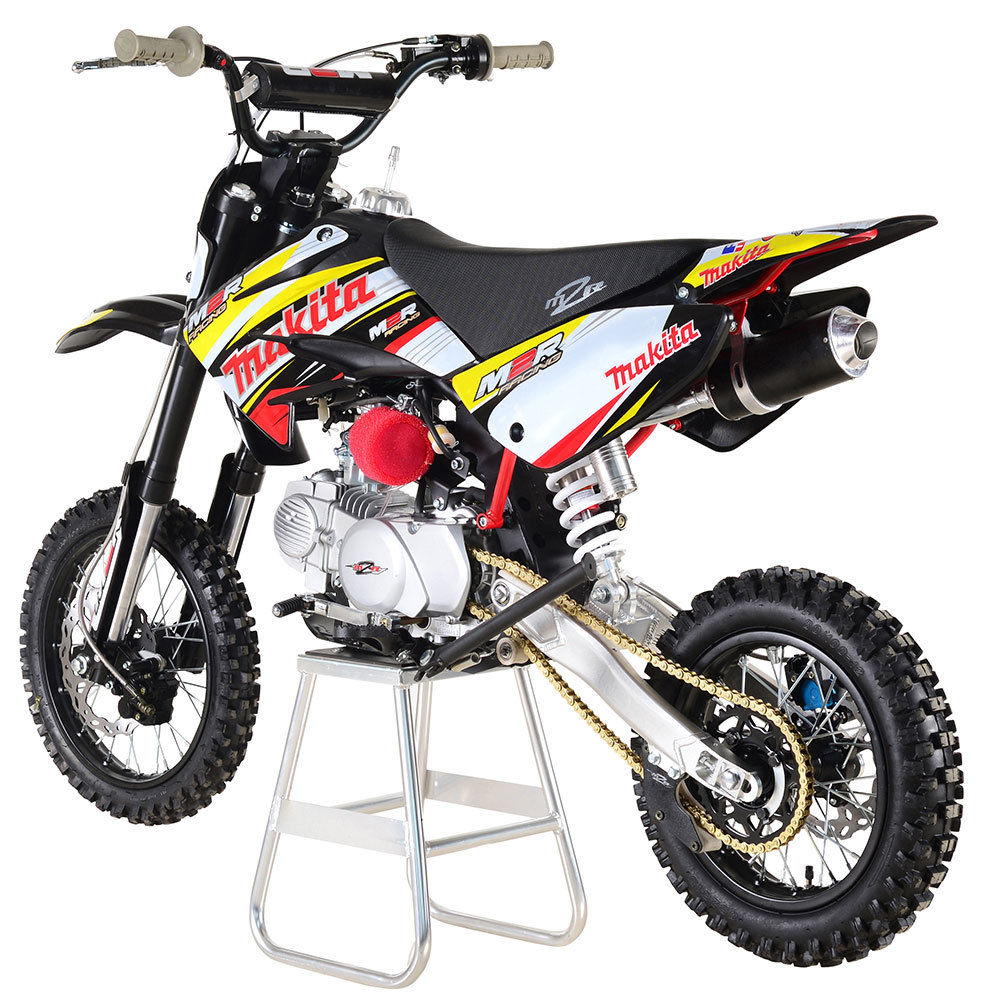m2r racing km125mx 125cc 86cm makita pit bike dirt. Black Bedroom Furniture Sets. Home Design Ideas