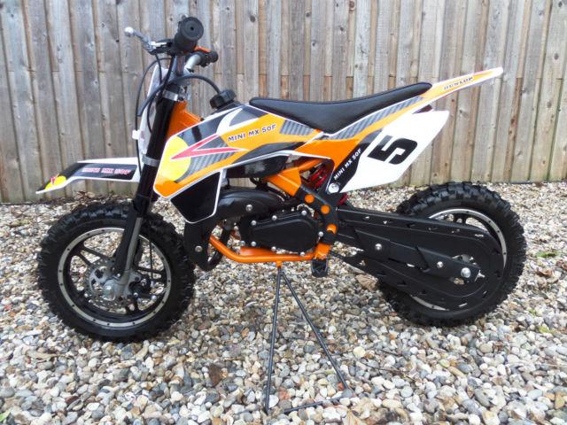 mini mx 50f 50cc moto cross 2 stroke auto dirt pit bike. Black Bedroom Furniture Sets. Home Design Ideas
