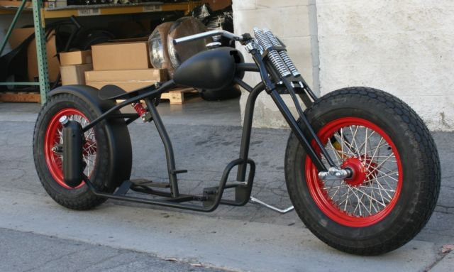 MMW ZERO STYLE BOBBER WITH COKER TIRES AND VINTAGE WISHBONE SPRINGER