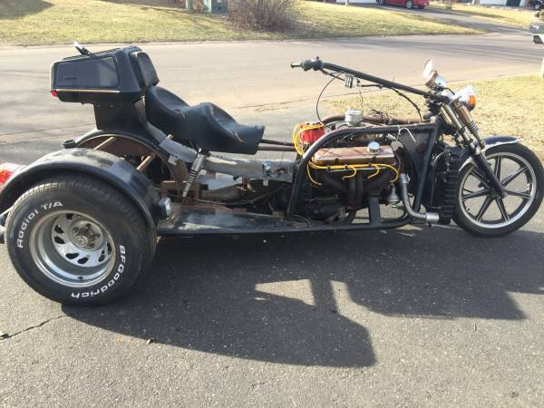 Motorcycle TRIKE Chevy V-8 Powered