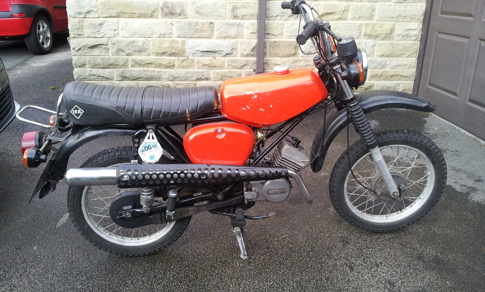 mz simson s51 enduro moped 49cc plus spares retro learner. Black Bedroom Furniture Sets. Home Design Ideas