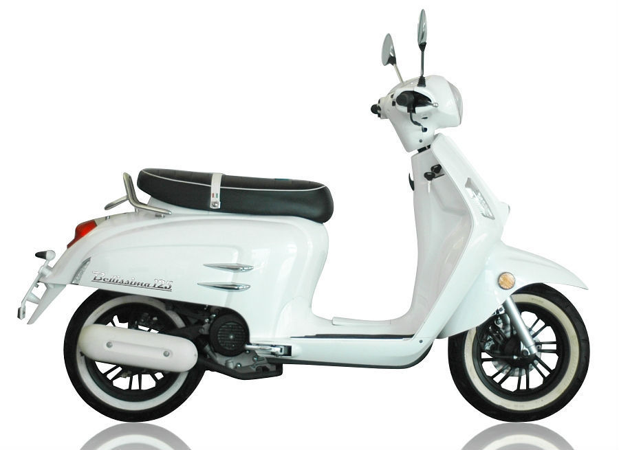 new 2014 wk bellissima 50cc retro scooter. Black Bedroom Furniture Sets. Home Design Ideas