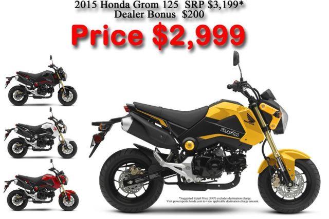 Honda Grom Price >> New 2015 Honda Grom 125 In Stock Now New Colors For 2015