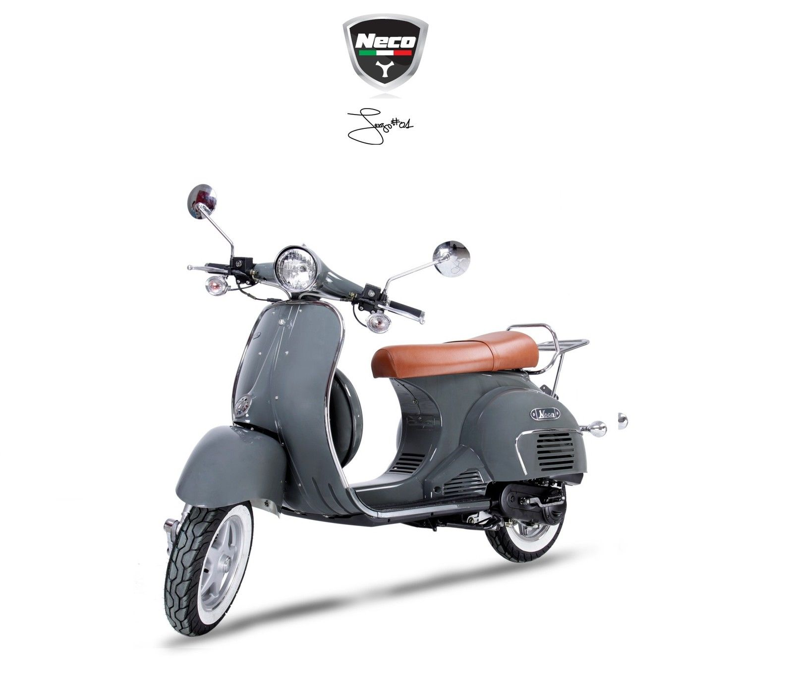 new neco abruzzi 125cc vespa lml lambretta style scooter. Black Bedroom Furniture Sets. Home Design Ideas