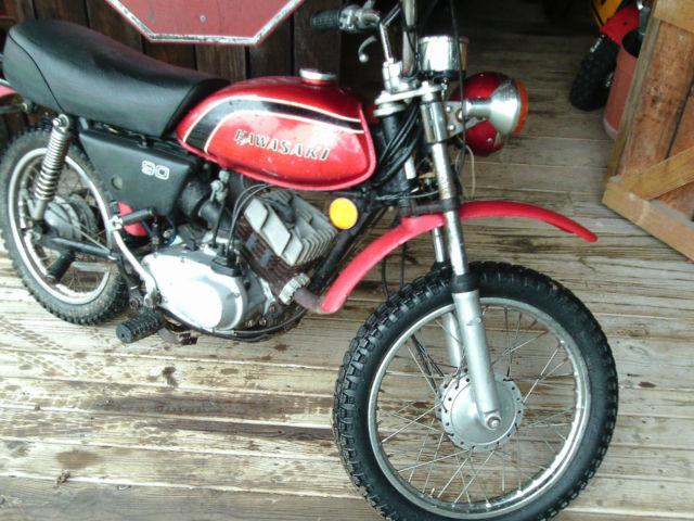 Original Paint 1973 Mc1 90 Kawasaki Enduro Motorcycle 90cc