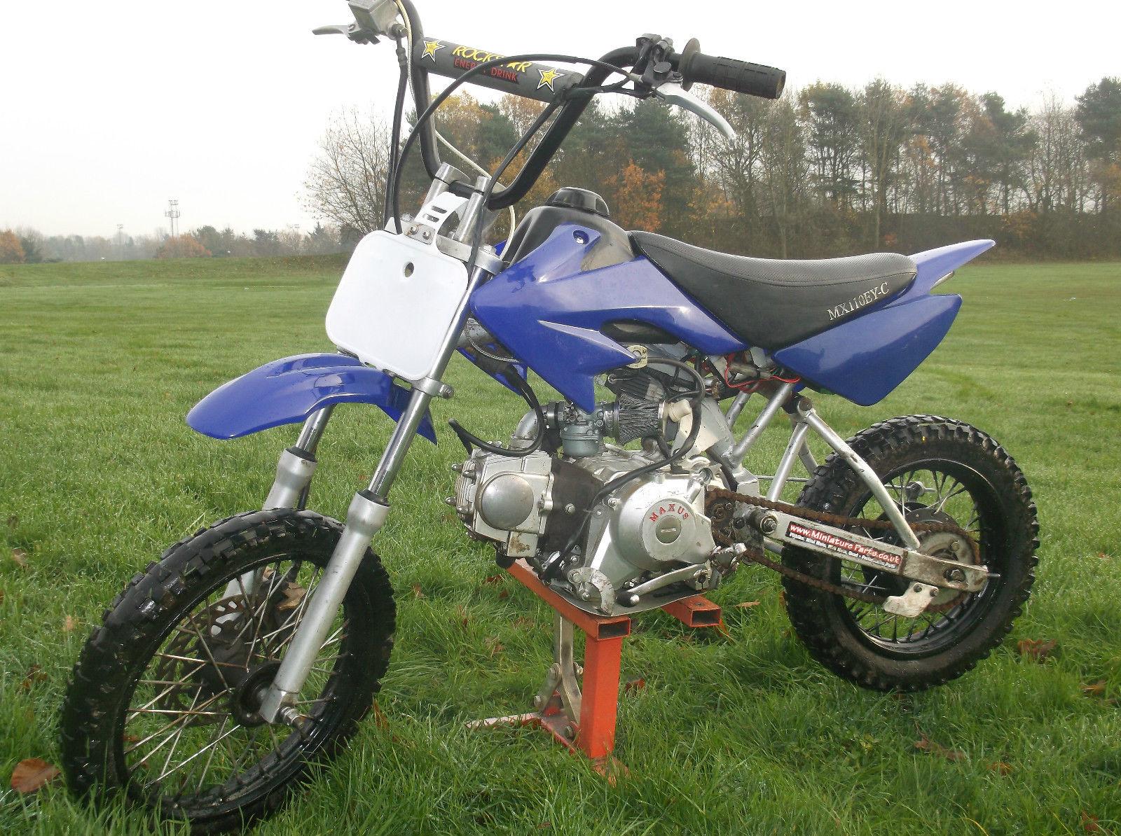 pit bike 110 cc field bike dirt motorcross kids motorbike. Black Bedroom Furniture Sets. Home Design Ideas