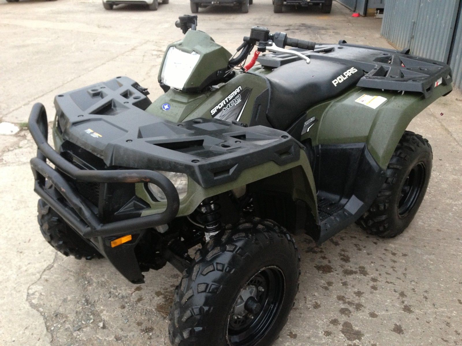 polaris sportsman 400 road legal quad 2011 no vat foreman grizzly trx 500 420. Black Bedroom Furniture Sets. Home Design Ideas