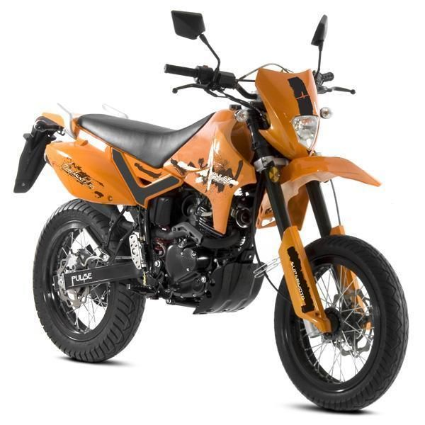 pulse adrenaline 125cc supermoto motorcycle learner legal enduro motorbike. Black Bedroom Furniture Sets. Home Design Ideas