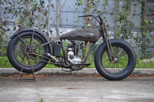 1928 Harley Davidson Ohv Peashooter: Rare 1928 Harley Model BA Peashooter Single 350cc