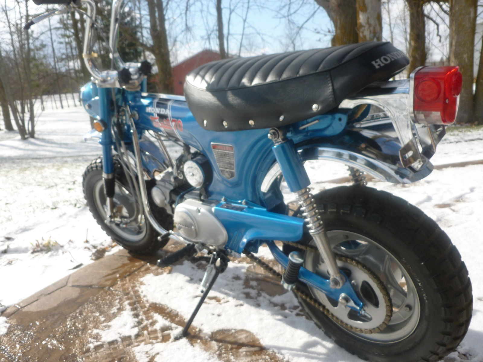 Restored Honda Ct70 Hk0 Trail 70 Clear Title No Reserve 1970 Battery Ct