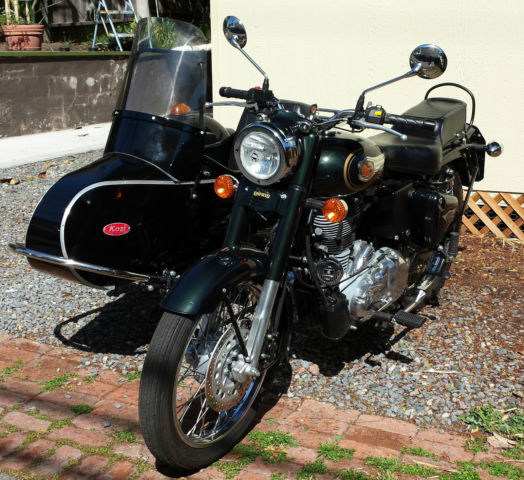 ROYAL ENFIELD BULLET 500CC MOTORCYCLE WITH KOZI SIDECAR