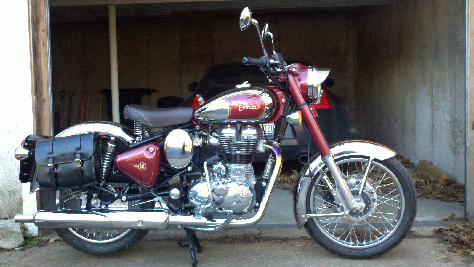 Royal Enfield C5 Classic Chrome Maroon 2011